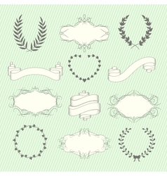 Wedding elements set vector image