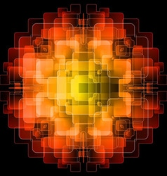 Background with orange digital screens vector image vector image