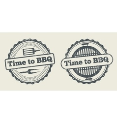 Barbecue and grill label steak house restaurant vector image vector image