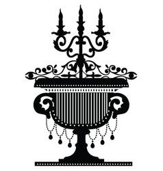 candelabra silhouette vector image vector image