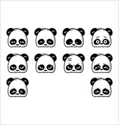 emoticon panda regular vector image vector image
