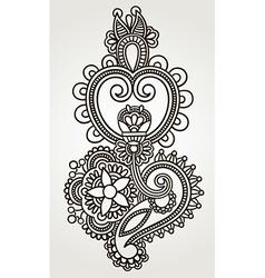 line art ornate flower design Ukrainian traditiona vector image vector image