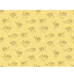 Seamless background with snails Achatina vector image vector image