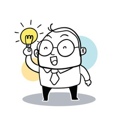 Business Man Hold Bulb vector image vector image