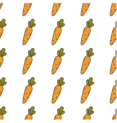 carrot hand drawn on white background hand drawn vector image vector image