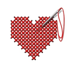 hand-made heart vector image vector image