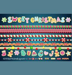 sweet christmas design element vector image