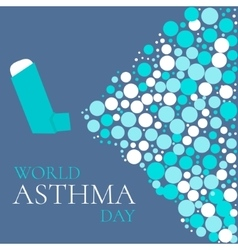 Asthma solidarity day poster vector image vector image