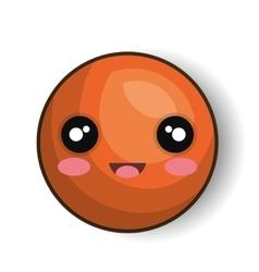 emoji orange smiling design graphic vector image