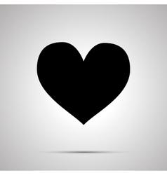 Heart simple black icon vector image vector image