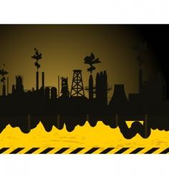 industrial city2 vector image vector image