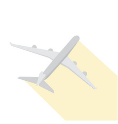 isolated airplane icon vector image vector image
