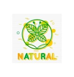 Natural Concept Natural Banner Natural Logo vector image