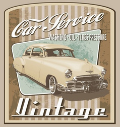 old car vintage vector image