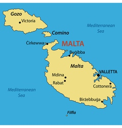Republic of Malta - map vector image vector image