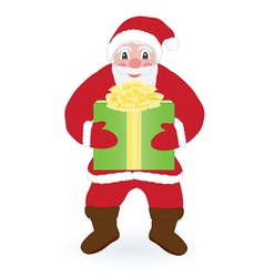 Santa Claus with present vector image vector image