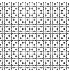 Seamless geometric pattern in mono line style can vector