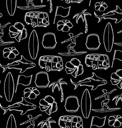 Seamless pattern background tropical surf vector image
