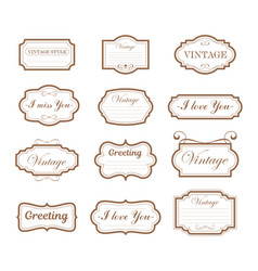 vintage collection retro and vector image