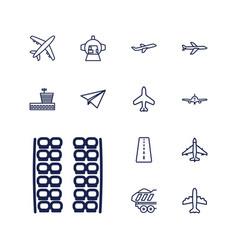 13 plane icons vector
