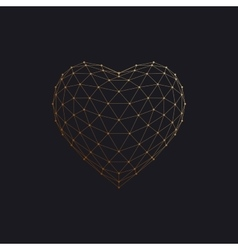 3D heart shape vector image
