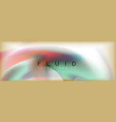 abstract background holographic liquid colors vector image