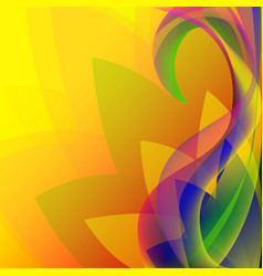 Abstract colorful elegant waves floral pattern vector