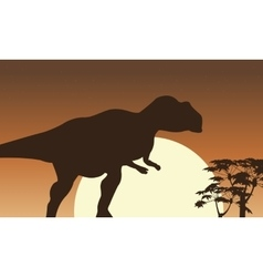 At sunrise mapusaurus scenery vector