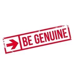 Be genuine stamp vector
