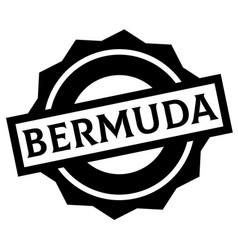 Bermuda stamp on white vector