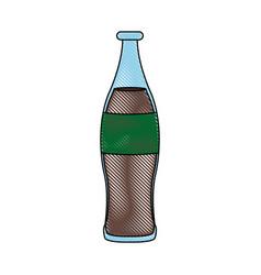 beverage cola soda carbonated drink bottle vector image