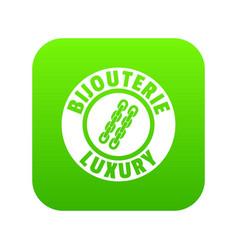 Bijouterie luxury icon green vector