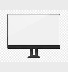 blank white computer screen mockup vector image