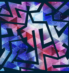 bright geometric space pattern vector image