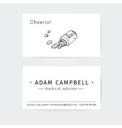 business cards design template for medical advisor vector image