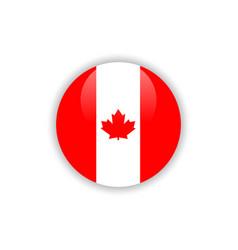 button canada flag template design vector image
