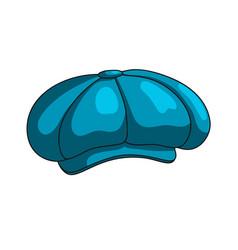 cap blue icon vector image