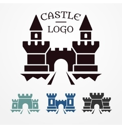 Castle logo set vector