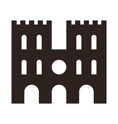 Cathedral icon vector