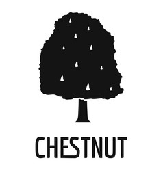 chestnut tree icon simple black style vector image