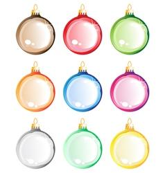 Christmas tree balls set vector