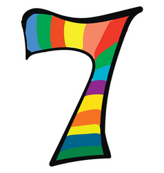 Clipart numerical number seven or 7 in a vector