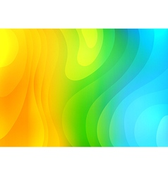 Colorful abstract waves background vector image