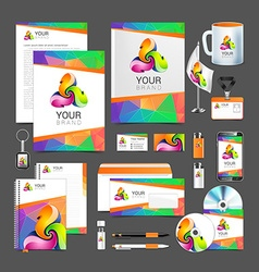 Corporate identity creative color template design vector