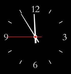 Dial hours vector