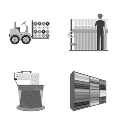 equipment machine forklift and other web icon in vector image