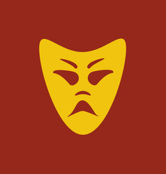 evil mask vector image