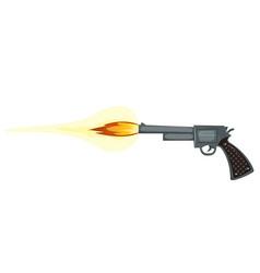 Firing gun vector