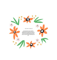Floral wedding greeting card hand drawn template vector