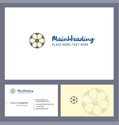 football logo design with tagline front and back vector image